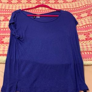 Blue shirt sleeve shirt size 6
